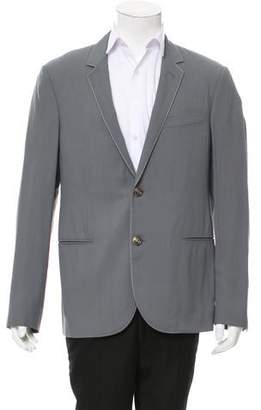 Lanvin Suede-Trimmed Two-Button Blazer w/ Tags
