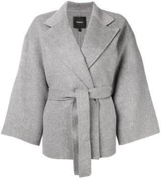 Theory belted cape jacket