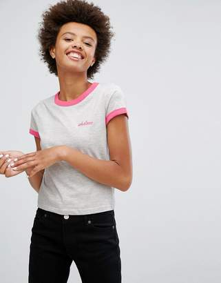 Brave Soul Whatever T Shirt With Contrast Banding