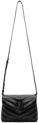Saint Laurent Black Quilted Toy Loulou Strap Bag