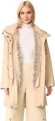 Helmut Lang Utility Fur Lined Coat $1,390 thestylecure.com