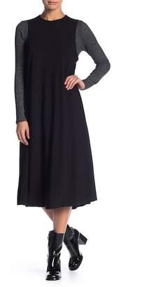 Couture Go Modest Long Sleve Knee Length Ribbed Jumper Dress
