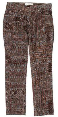 Etoile Isabel Marant Printed Low-Rise Jeans