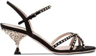 Miu Miu jewelled heel sandals