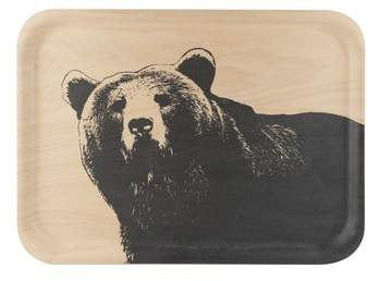 MUURLA Bear Birch & Melamine Serving Tray