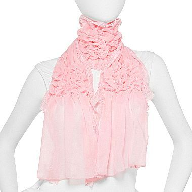 JCPenney Lace-Gathered Scarf