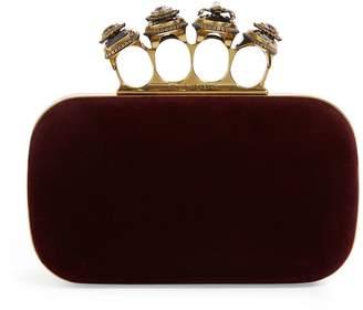 Alexander McQueen Spider Jewelled Four-Ring Box Clutch Bag
