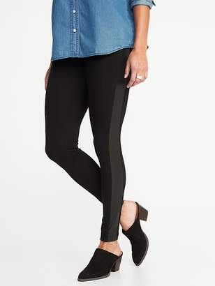 Old Navy Faux-Leather-Trim Leggings for Women