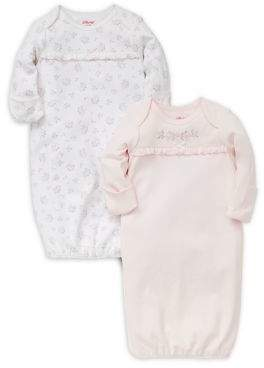 Little Me Baby Girl's Set of Two Dainty Floral Cotton Gowns