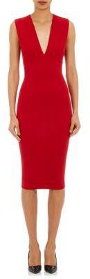 Victoria Beckham Women's Décolleté Sheath Dress-RED $2,295 thestylecure.com