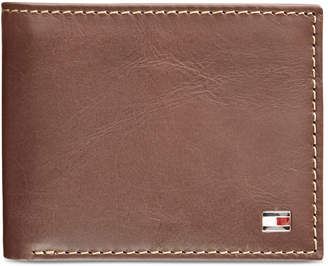 Tommy Hilfiger Men's Logan Zippered Leather Passcase Wallet