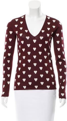 Burberry Burberry Prorsum Heart Patterned Top