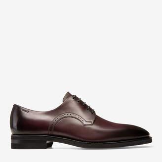 Bally Scrivani Burgundy, Men's plain calf leather derby shoe in vino