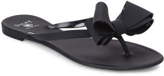 N. Dizzy Matte Bow Thong Sandals