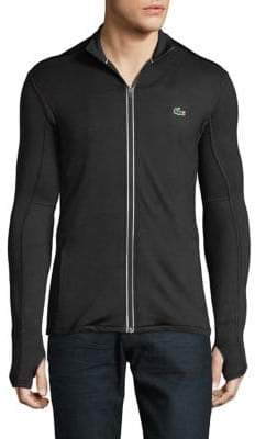 Lacoste Full-Zip Mock Neck Jacket