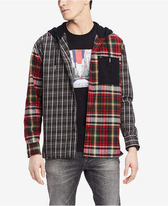 Tommy Hilfiger Men's Oversized Pattern-Blocked Hoodie