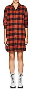 VIS A VIS Women's Buffalo-Checked Cotton Flannel Shirtdress - Red