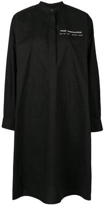 MM6 MAISON MARGIELA oversized mandarin collar shirt dress