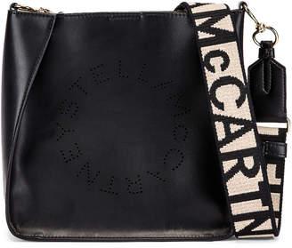 Stella McCartney Mini Logo Crossbody Bag in Black | FWRD