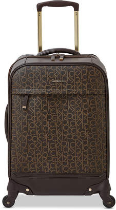 """Calvin Klein Mulberry 20"""" Softside Spinner Suitcase"""