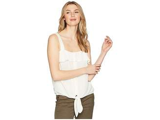 1 STATE 1.STATE Sleeveless Tie Front Button Down Blouse