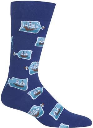 Hot Sox Men's Ship in a Bottle Socks