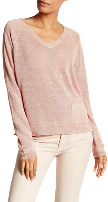Eileen Fisher V-Neck Boxy Linen Sweater $228 thestylecure.com