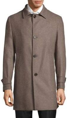 Eleventy Single-Breasted Wool Car Coat