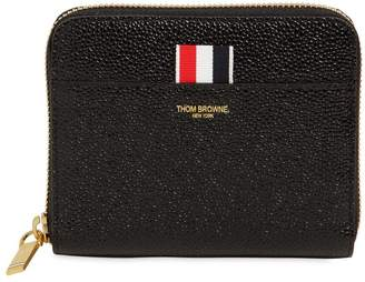 Thom Browne Small Patent Leather Zip Around Wallet
