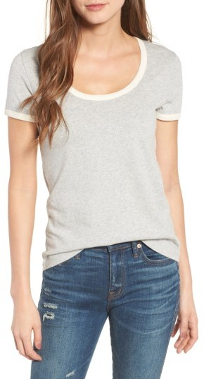 Women's Madewell Recycled Cotton Ringer Tee 3