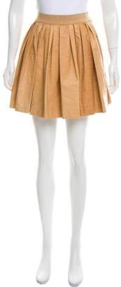 3.1 Phillip Lim Pleated Leather Skirt w/ Tags Natural Pleated Leather Skirt w/ Tags