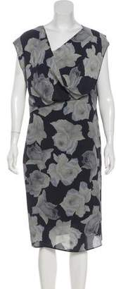 Lanvin Silk Printed Dress w/ Tags