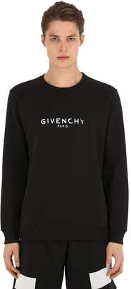 Givenchy Logo Cotton Jersey Crewneck Sweatshirt