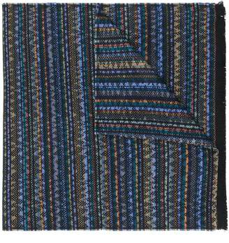 M Missoni zigzag pattern scarf
