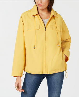 Style&Co. Style & Co Cropped Water-Resistant Anorak Jacket