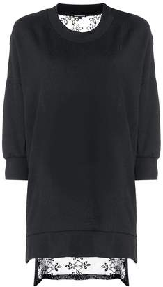 Ann Demeulemeester oversized sheer back sweatshirt