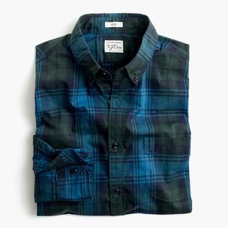 Slim Secret Wash shirt in heather poplin plaid $64.50 thestylecure.com