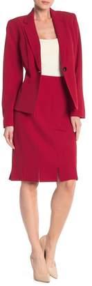 Kasper Solid Pencil Skirt