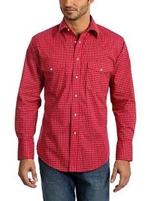 Wrangler Men's Big and Tall Big & Tall Wrinkle Resist Two Pocket Long Sleeve Snap Shirt