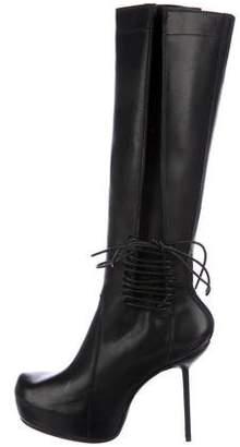 Rick Owens Lace-Up Platform Boots
