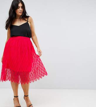 Club L Plus Lace Skirt