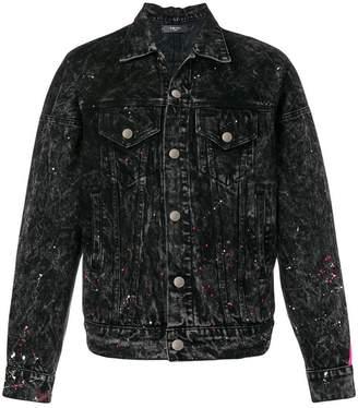 Amiri striped denim jacket