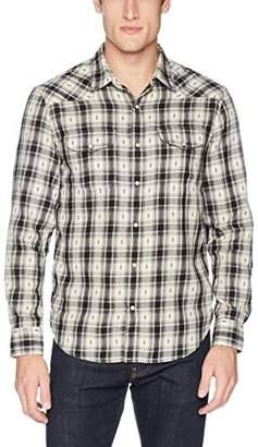 Lucky Brand Men's Casual Long Sleeve Dobby Western Button Down Shirt
