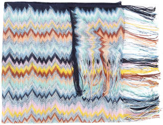 Missoni zig-zag patterned scarf