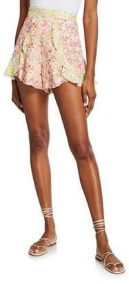 Zimmermann Goldie Splice Frill Short Shorts