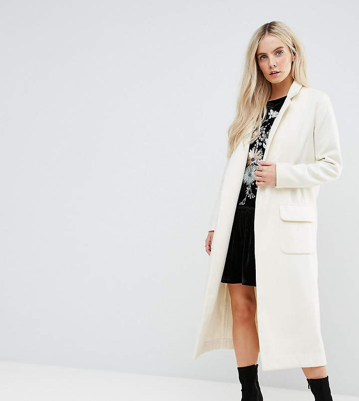 Glamorous Petite – Kokon-Mantel mit weitem Schnitt