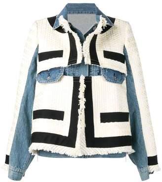 Sacai hybrid denim jacket