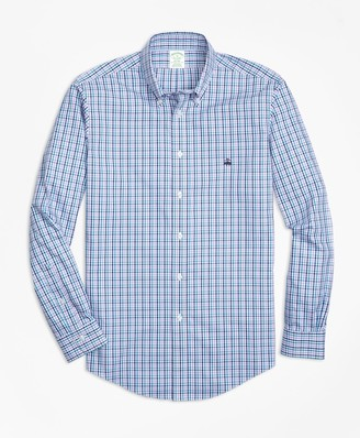 Brooks Brothers Non-Iron Milano Fit Three-Color Gingham Sport Shirt
