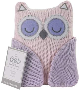 Pink Owl Knitted Plush Toy