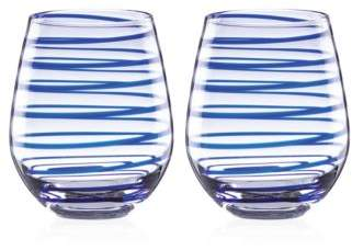 Kate Spade Charlotte Street Stemless Wine Glass, Set of 2